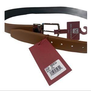 Bruno Magli tan/black leather belt MSRP $190